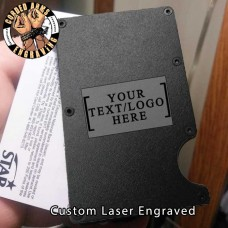 Custom Laser Engraved EDC  Money Clip Credit Card Wallet