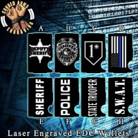 Law Enforcement Laser Engraved EDC  Money Clip Credit Card Wallet