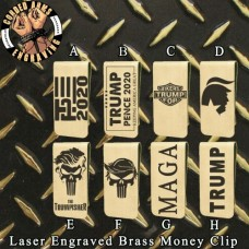 Trump Collection Laser Engraved Brass  Money Clip