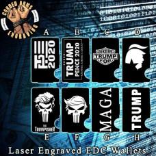 Trump Collection Laser Engraved EDC  Money Clip Credit Card Wallet