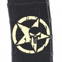 Punisher Star in Circle Laser Engraved Custom Pmag