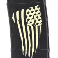 Tattered Flag Laser Engraved Custom Pmag